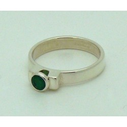Emerald Faceted Ring