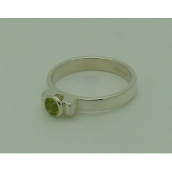 Peridot Faceted Ring