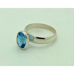 Swiss Topaz Faceted Ring