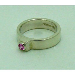CZ Pink Faceted Ring